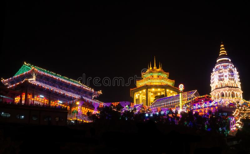 Kek Lok Si Temple, Penang Island, Malaysia. Kek Lok Si Temple located at the Air Itam mountain in George Town on Penang Island. That is the largest Buddhist royalty free stock images