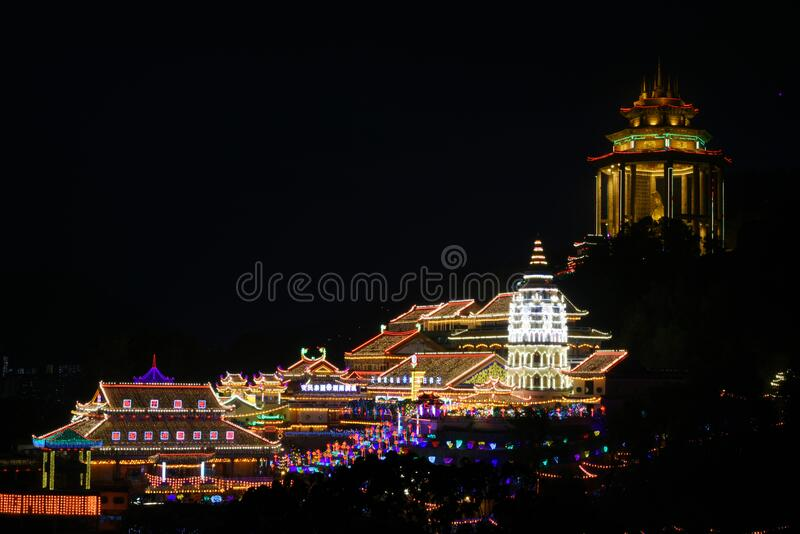 Kek Lok Si Temple. In Penang is one of the most important Chinese Buddhist Temples in SE Asia. Here are details about how to visit when you`re in Penang royalty free stock photos