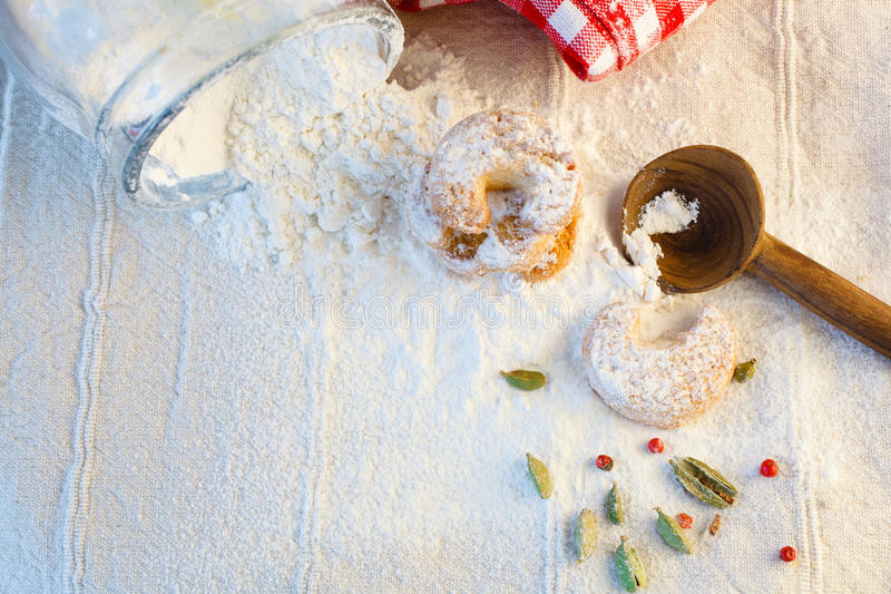 Kekse für Christmastime stockfoto