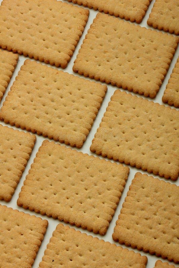 Kekse im Ziegelsteinmuster lizenzfreie stockbilder