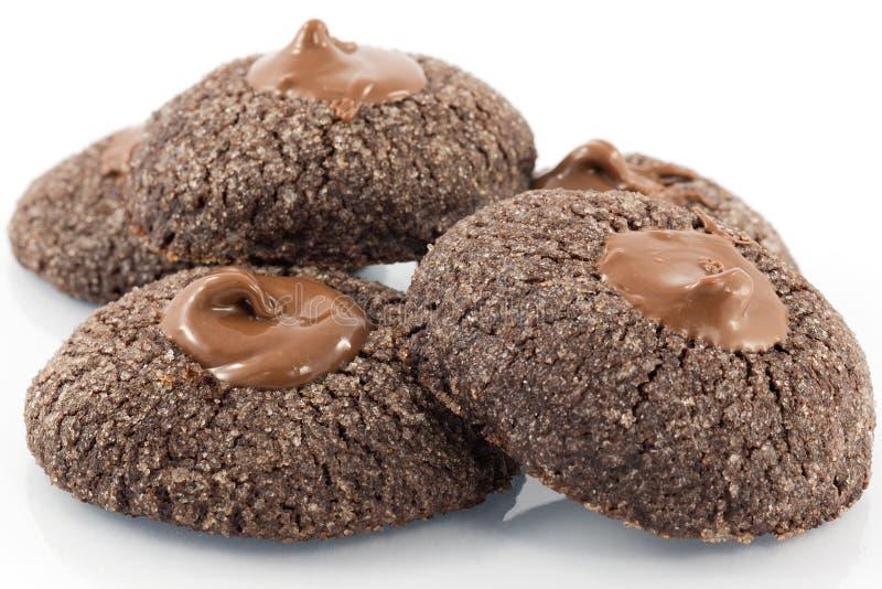 Kekse mit Schokolade stockbild