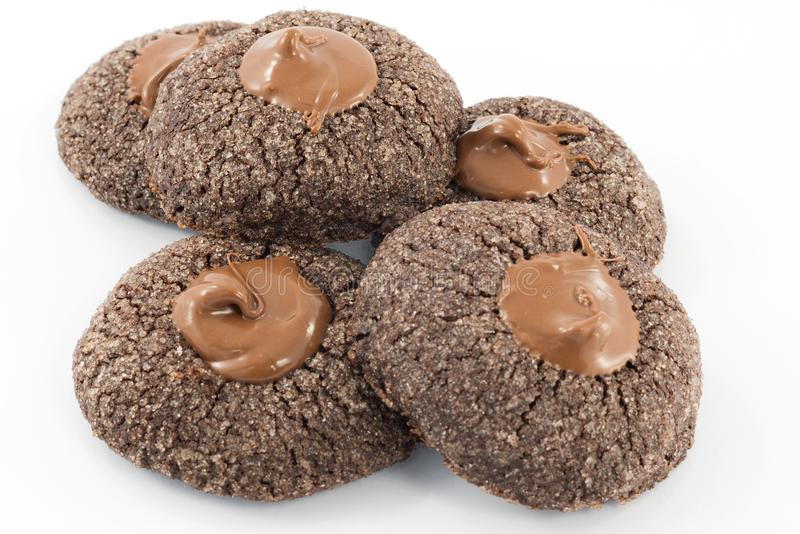 Kekse mit Schokolade lizenzfreie stockfotografie