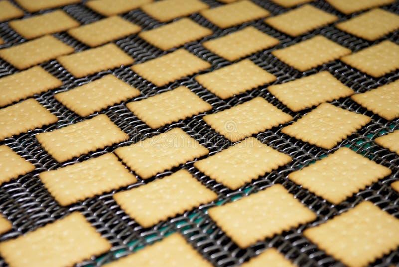Download Keksfabriklinie stockfoto. Bild von biskuit, nachtisch - 96928978