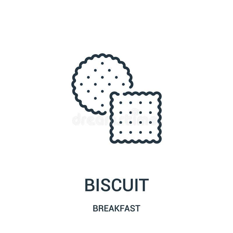 Keksikonenvektor von der Frühstückssammlung Dünne Linie Keksentwurfsikonen-Vektorillustration Lineares Symbol für Gebrauch auf Ne stock abbildung