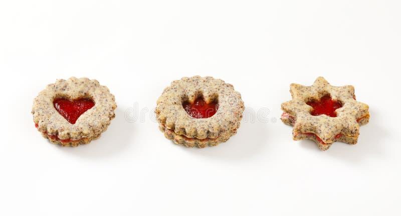 Keksplätzchen mit Stauarchivierung lizenzfreies stockbild