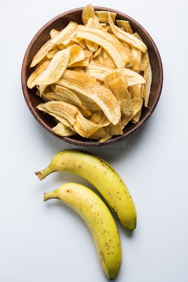 Kela o microprocesadores u obleas fritos plátano imágenes de archivo libres de regalías