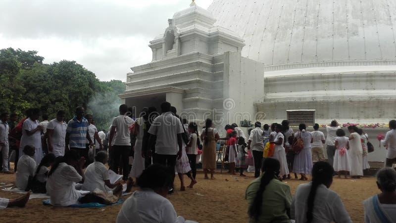 Kelaniya-Tempel stockbilder