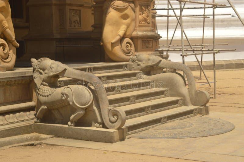 Kelaniya tempel arkivbild
