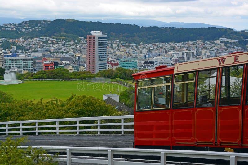 KelburnKabelwagen, Wellington New Zealand. royalty-vrije stock foto