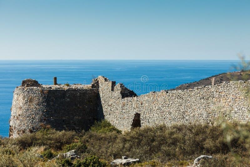 Kelefakasteel in Griekenland stock fotografie