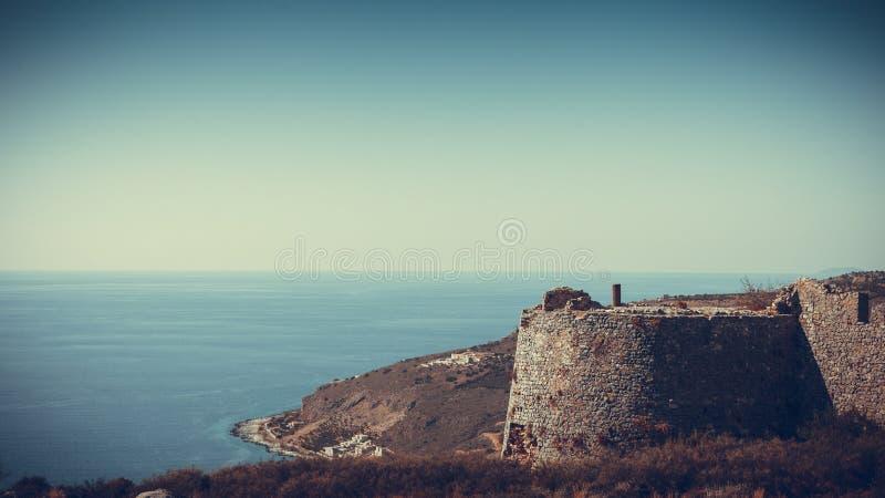 Kelefakasteel in Griekenland stock foto