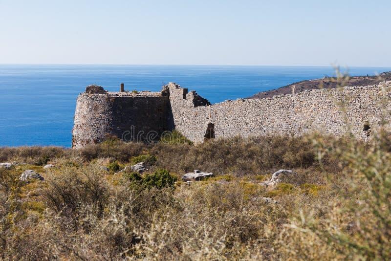 Kelefakasteel in Griekenland stock foto's