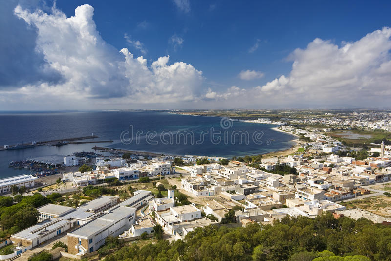 Download Kelibia stock image. Image of town, cloud, coast, cityscape - 9465215