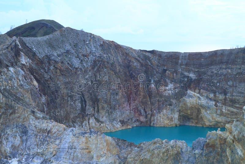 Kelimutu - einzigartiges See Zinn lizenzfreie stockfotos