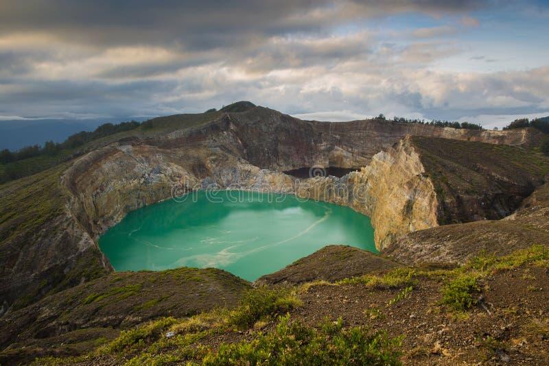 Kelimutu koloru jeziora obrazy stock