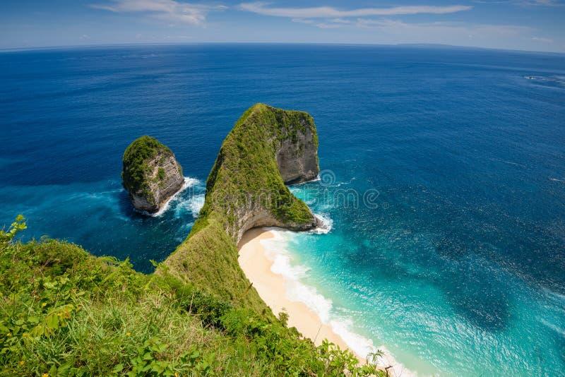 Kelingking-Strand auf der Insel von Nusa Penida in Bali 2 lizenzfreies stockfoto