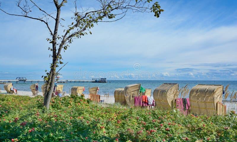 Kellenhusen baltiskt hav, Schleswig-Holstein, Tyskland arkivfoton