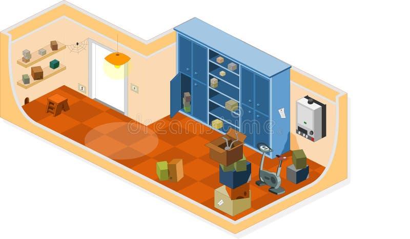 Kellermöbel kellermöbel stock abbildung illustration zuhause 12883534