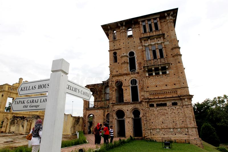 Kellie`s Castle at Batu Gajah, Perak, Malaysia. The mystery of Kellie`s Castle, Batu Gajah, Perak, Malaysia. The unfinished mansion was built by a Scottish royalty free stock photo