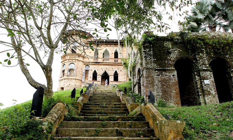 Kellie`s Castle at Batu Gajah, Perak, Malaysia. The mystery of Kellie`s Castle, Batu Gajah, Perak, Malaysia. The unfinished mansion was built by a Scottish royalty free stock image