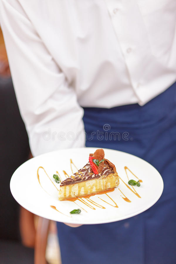 Kellner In das Luxusrestaurant lizenzfreies stockfoto