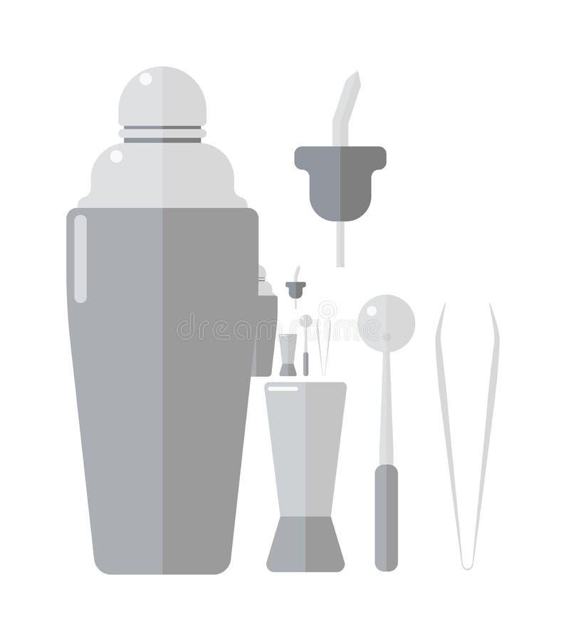 Kellnergetränk-Schüttel-Apparatillustration vektor abbildung