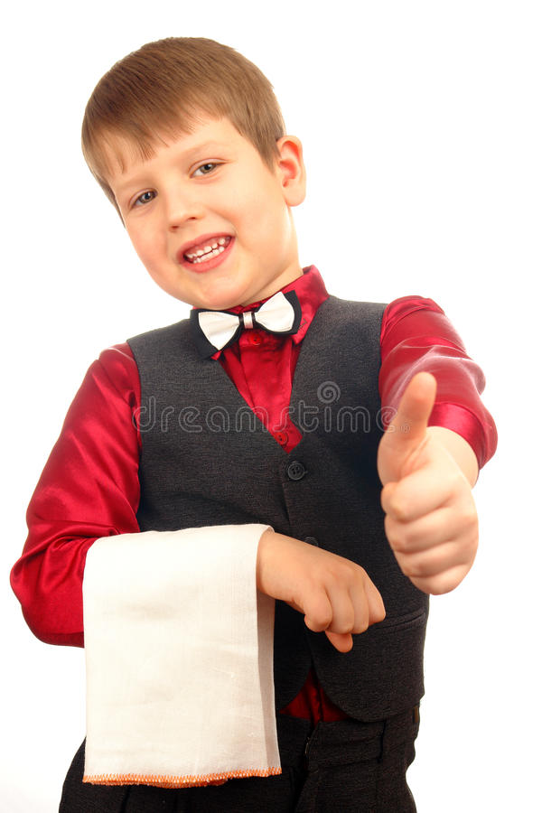 Kellnerjungenkind lizenzfreies stockbild