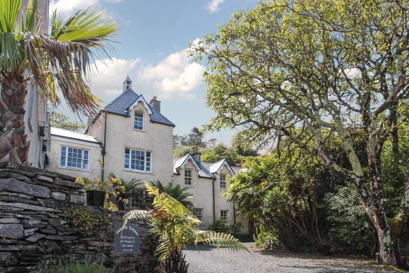 Kells Bay Gardens house. In Cahersiveen, County Kerry, Ireland royalty free stock photography