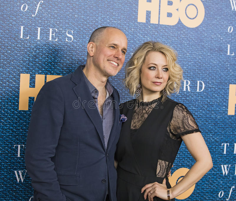 Kelly AuCoin. Actor Kelly AuCoin left arrives for the New York City premiere of HBO`s film, `The Wizard of Lies,` at the Museum of Modern Art MOMA on May royalty free stock photography