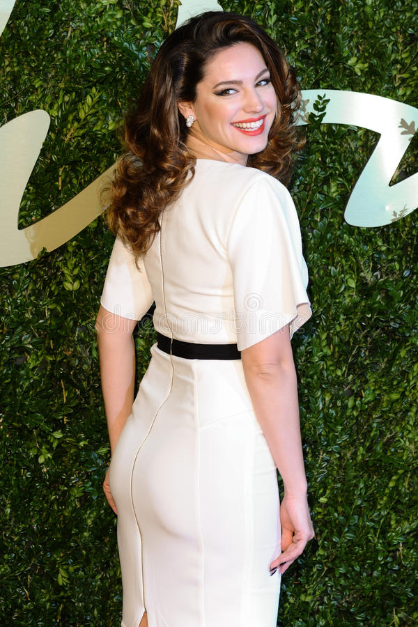 Kelly Brook. Arrives for the British Fashion Awards 2013 at the Colliseum, St.Martin's Lane, London. 02/12/2013 Picture by: Steve Vas / Featureflash stock photography