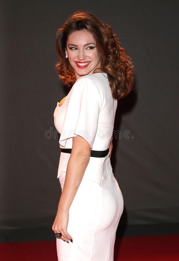 Kelly Brook. Arriving for the 2013 British Fashion Awards, at The London Coliseum, London. 02/12/2013 Picture by: Alexandra Glen / Featureflash stock image