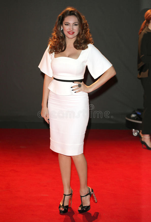Kelly Brook. Arriving for the 2013 British Fashion Awards, at The London Coliseum, London. 02/12/2013 Picture by: Alexandra Glen / Featureflash royalty free stock photos