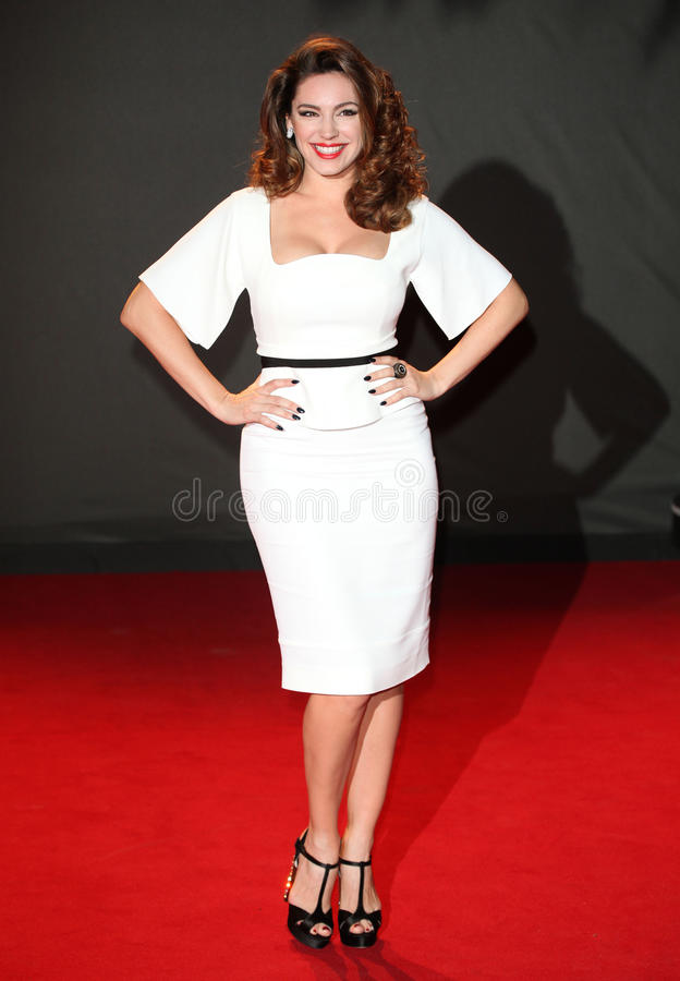 Kelly Brook. Arriving for the 2013 British Fashion Awards, at The London Coliseum, London. 02/12/2013 Picture by: Alexandra Glen / Featureflash royalty free stock image
