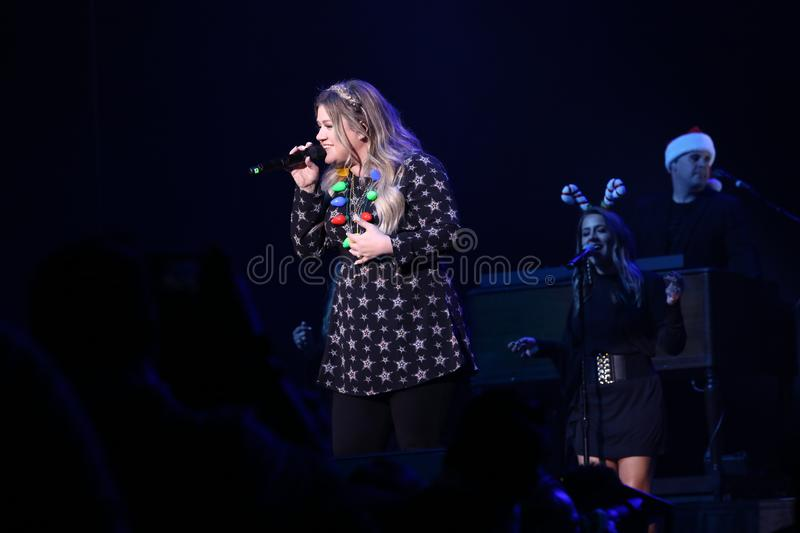 Kelly Clarkson in concert - Christmas Show stock photos