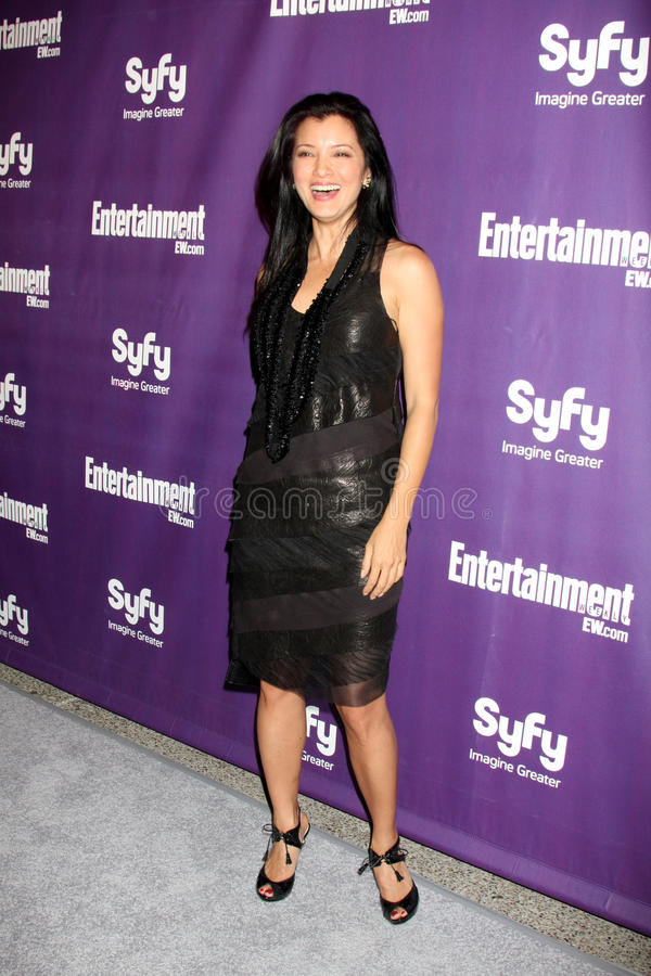 Kelly Hu. Arriving at the SyFy / Entertainment Weekly Party at the Hotel Solamar J6 Bar in San Diego, CA on July 25, 2009 2009 Kathy Hutchins / Hutchins Photo stock photography