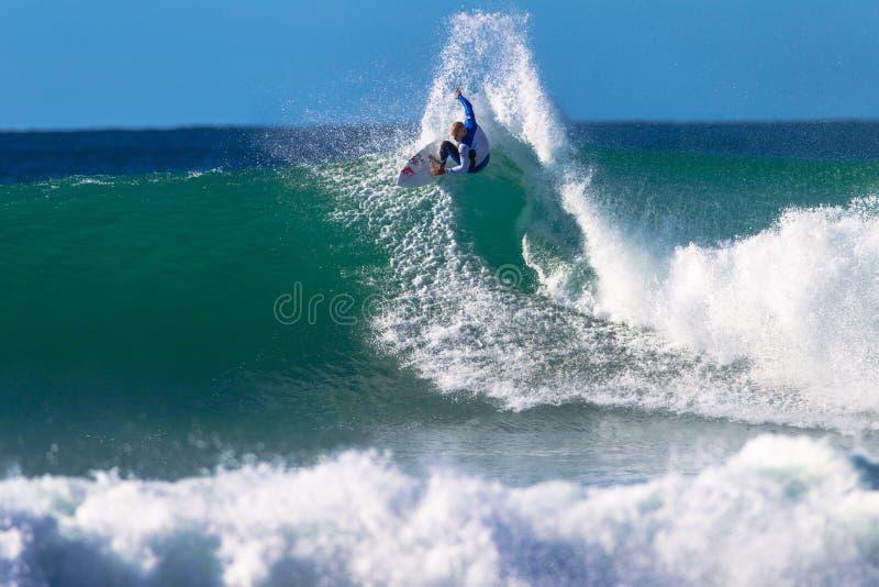 Kelly Slater Jeffreys Bay Surfing Editorial Stock Image