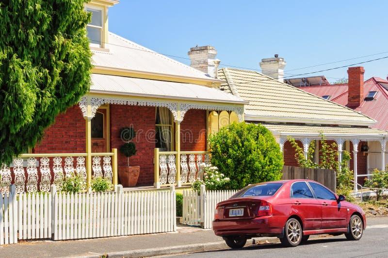 Kelly Street - Hobart royalty-vrije stock foto's