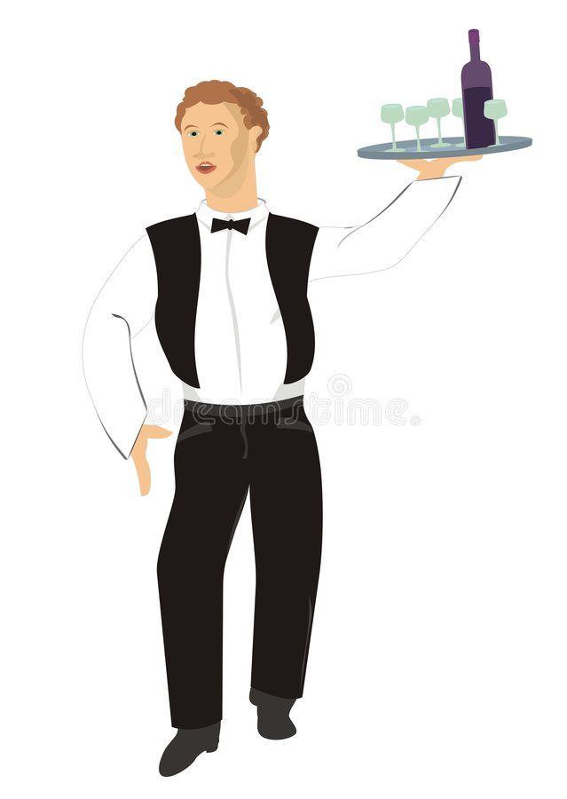 kelner ilustracja wektor