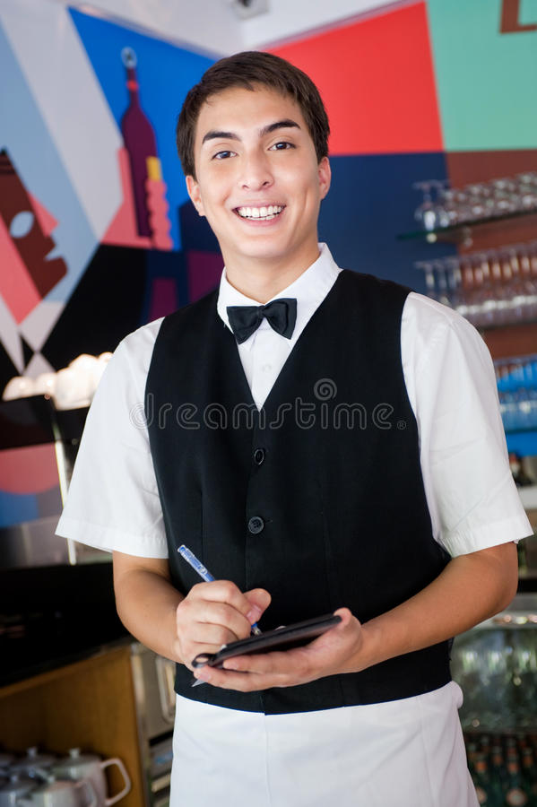 Kelner Bierze Rozkaz obraz stock