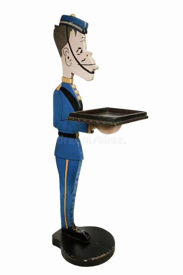 Kelner statua jako dzwonkowa chłopiec dla przyjęć lub dinnersl zdjęcia stock