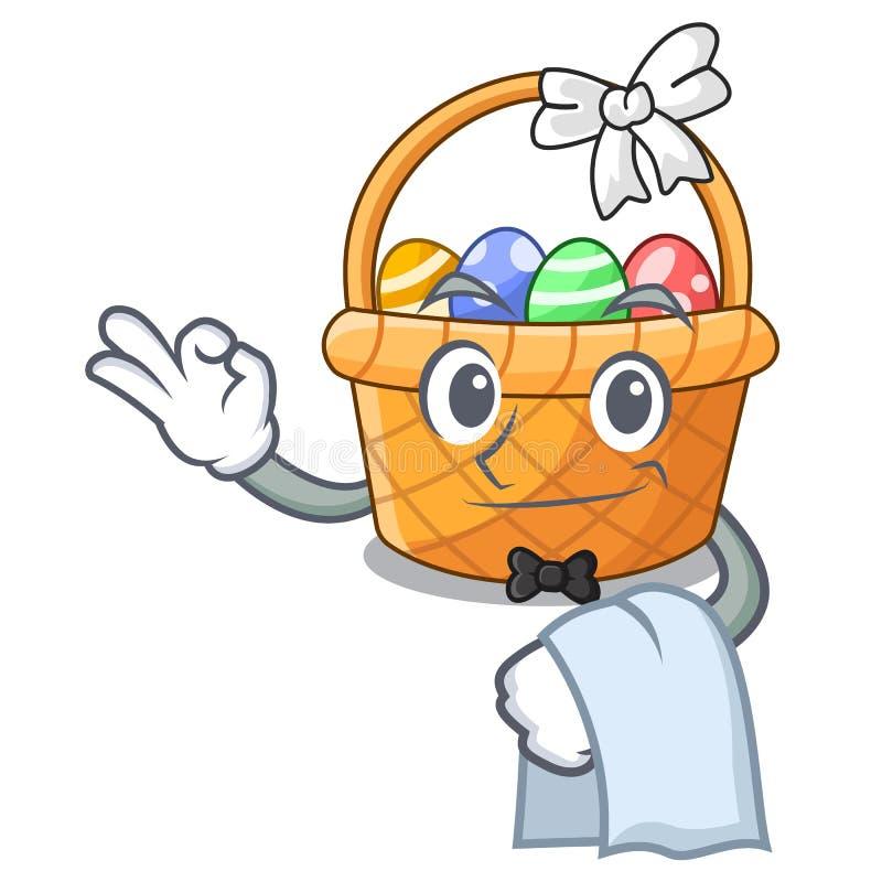 Kelnera Easter kosza miniatura kształt maskotka ilustracji