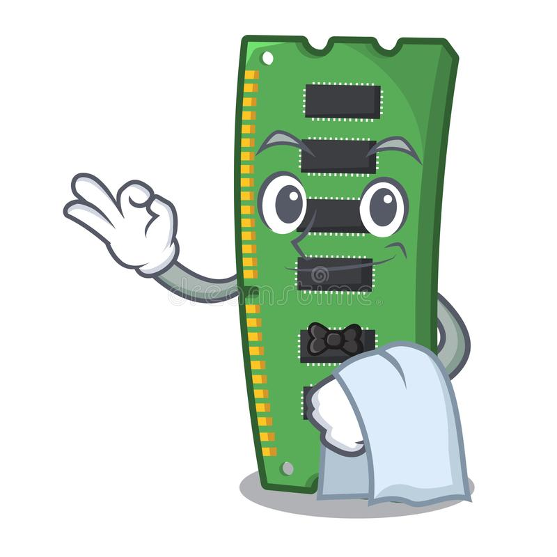 Kelnera RAM karta pamięci w peceta charakterze royalty ilustracja