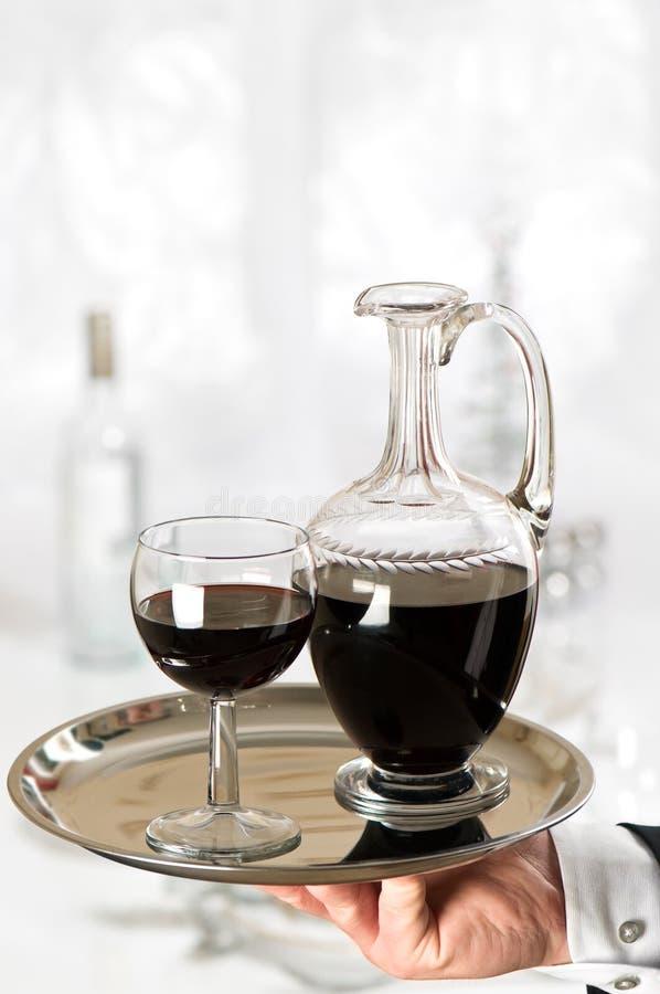 kelnera wino zdjęcie stock