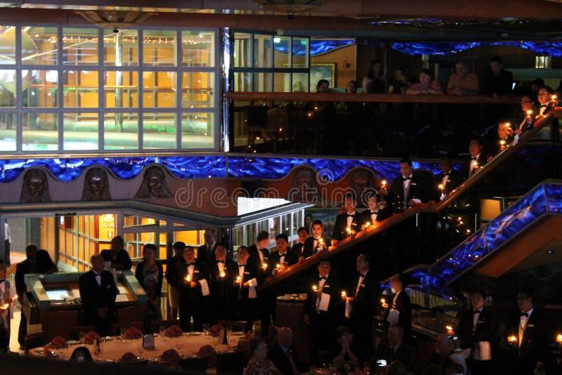 Kelners die ceremonie zingen stock afbeelding