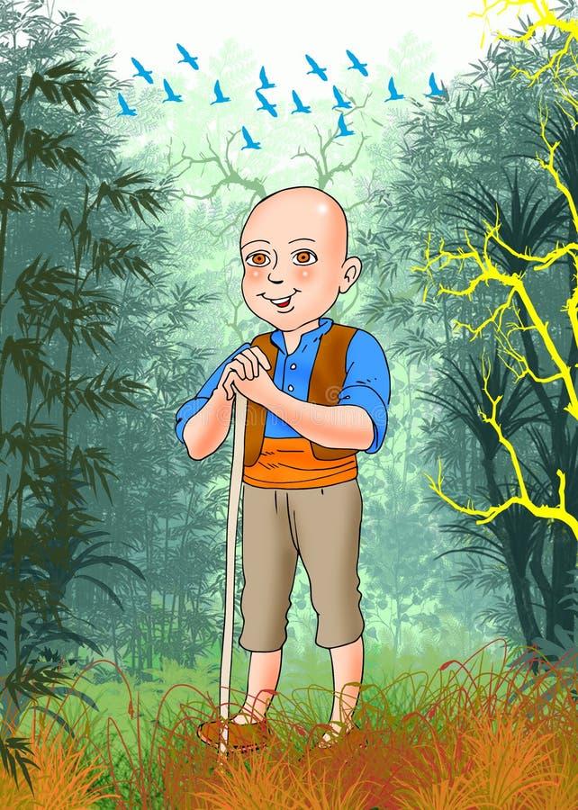 Keloglan, turk Masalli. Turk masalli,hikayeler royalty free illustration