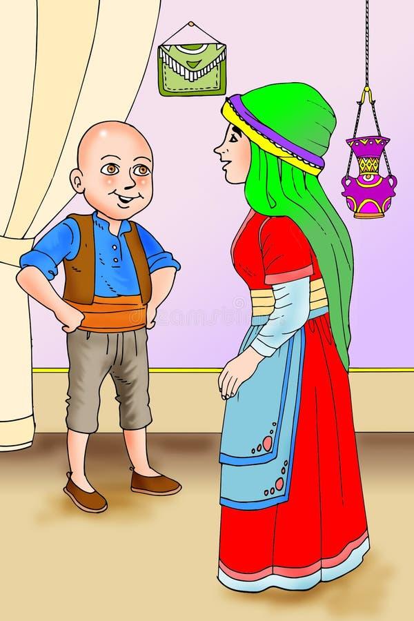 Keloglan, turk Masalli, turk tales. Stories, fairy tales, turk, istanbul stock illustration