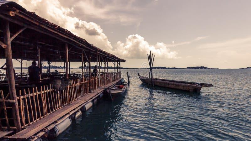 Kelong (Indonesien) stockfoto