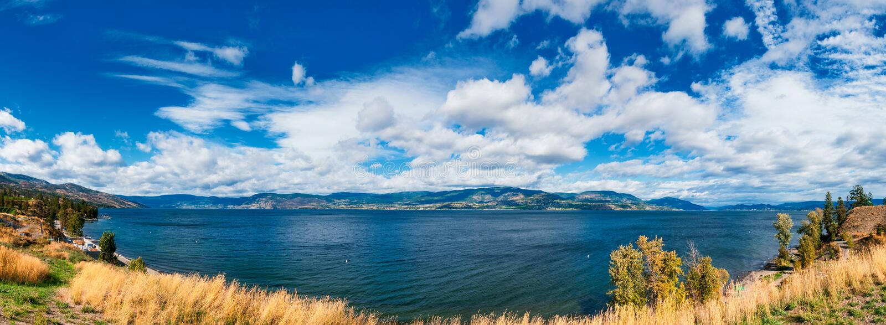 Kelowna Okanagan sjö royaltyfri fotografi