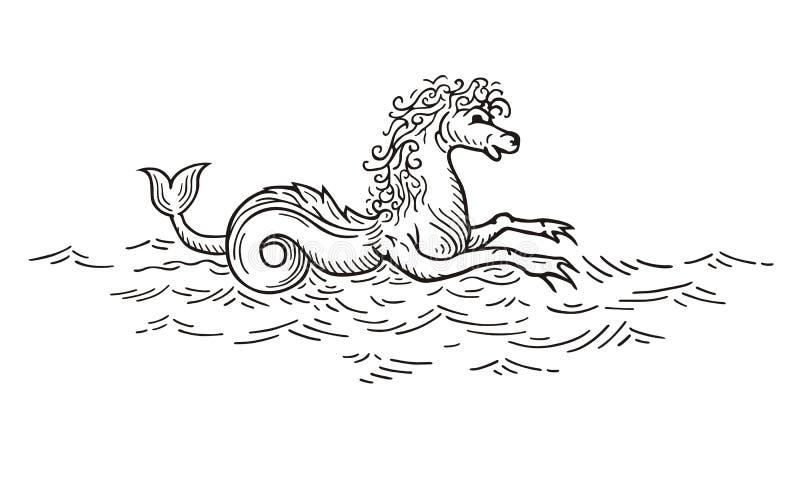 Kelpie - σκωτσέζικο πνεύμα λιμνών ελεύθερη απεικόνιση δικαιώματος