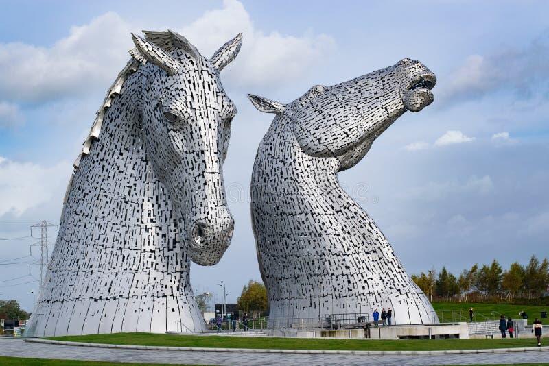 Kelpies - σκωτσέζικα άλογα νερού στοκ φωτογραφία με δικαίωμα ελεύθερης χρήσης